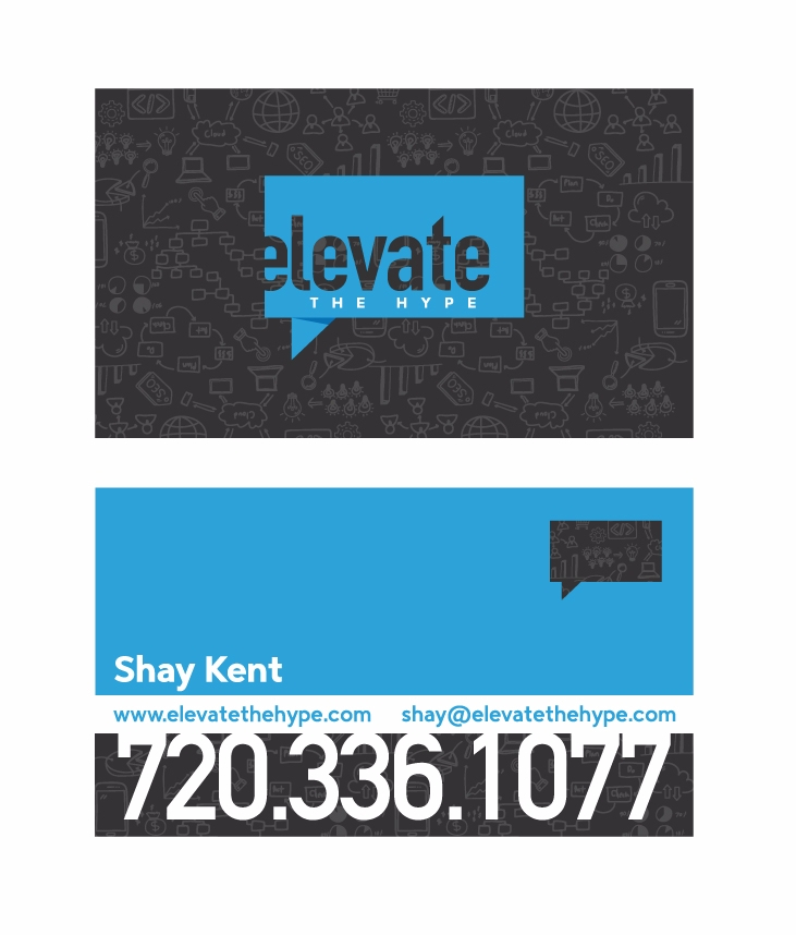 Elevate Hype business mark card - vargas-visions | ello