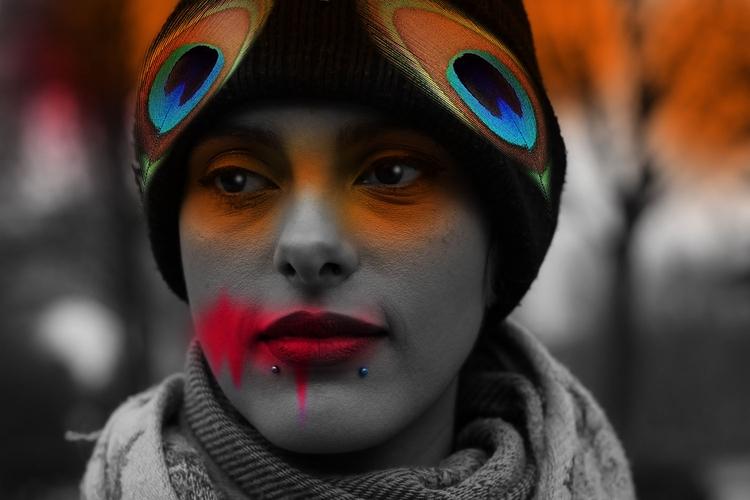 images - photoshop, femaleface, feather - lobber66 | ello