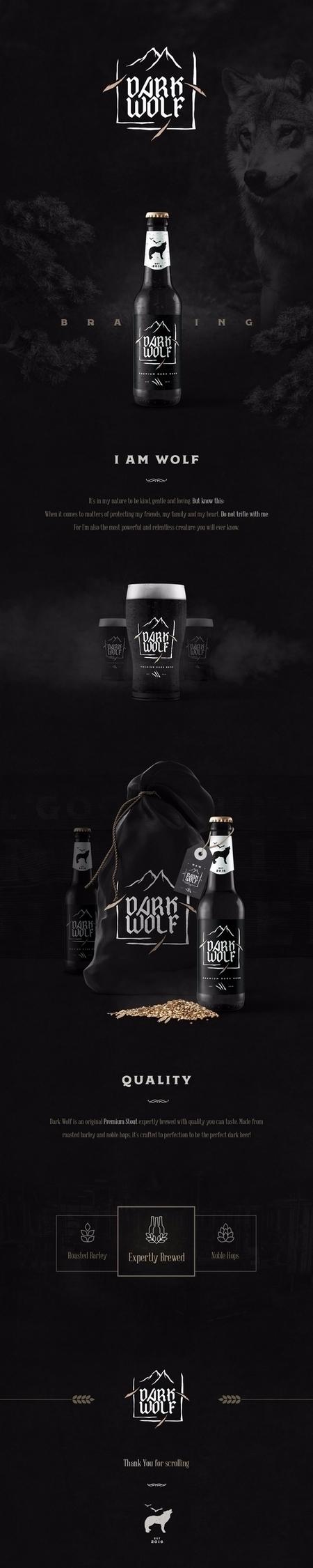 beer, darkwolf, brewery, branding - kristaps-design | ello
