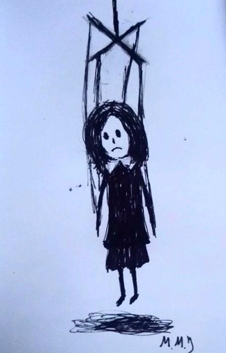 illustration, ink, halloween - maksmj | ello