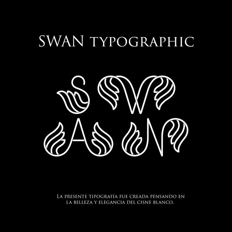 Swan Typographic: Typography cr - designkrea | ello