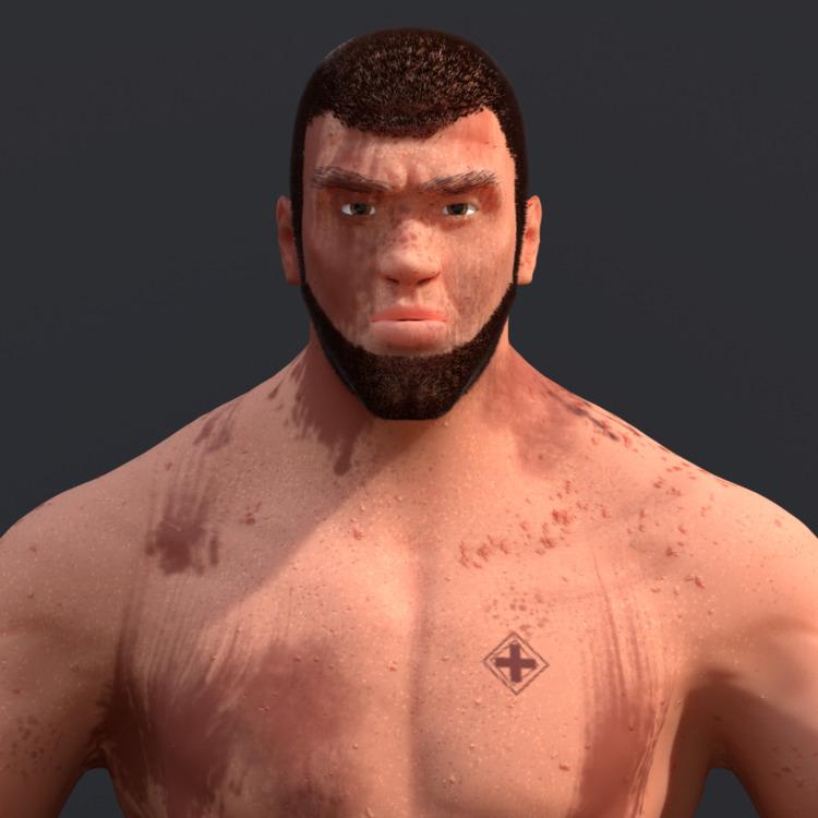 Character design practice - man - solutuminvictus | ello