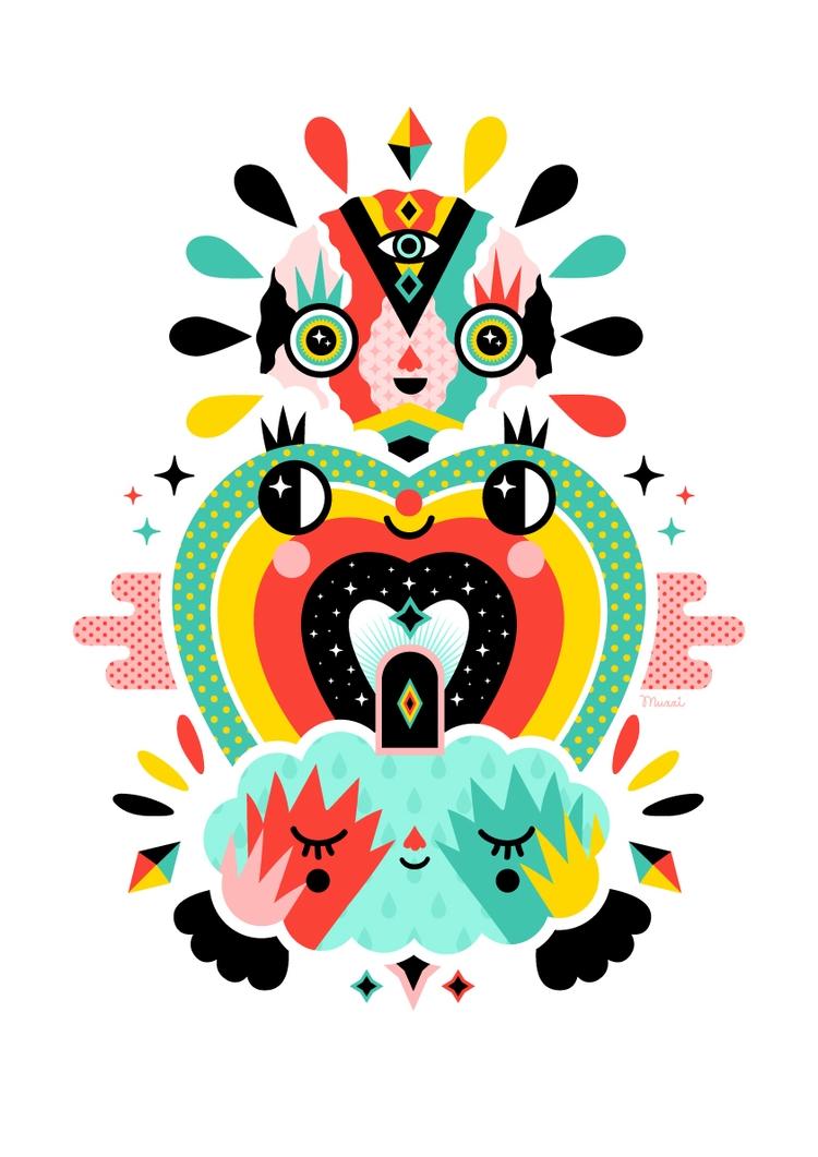 3 number magic - illustration, digital - muxxi | ello