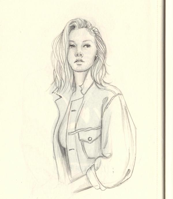 Denim love - doodle, drawing, sketch - j0eyg1rl | ello