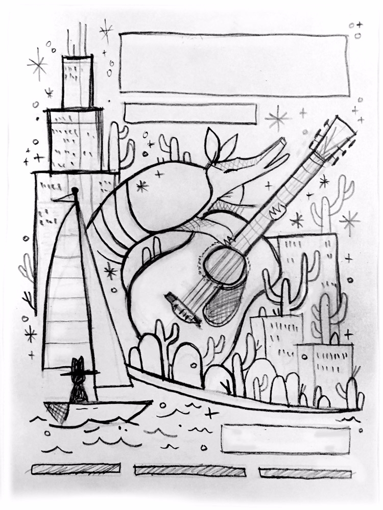 Pencil sketch John Prine poster - arenvandenburgh | ello