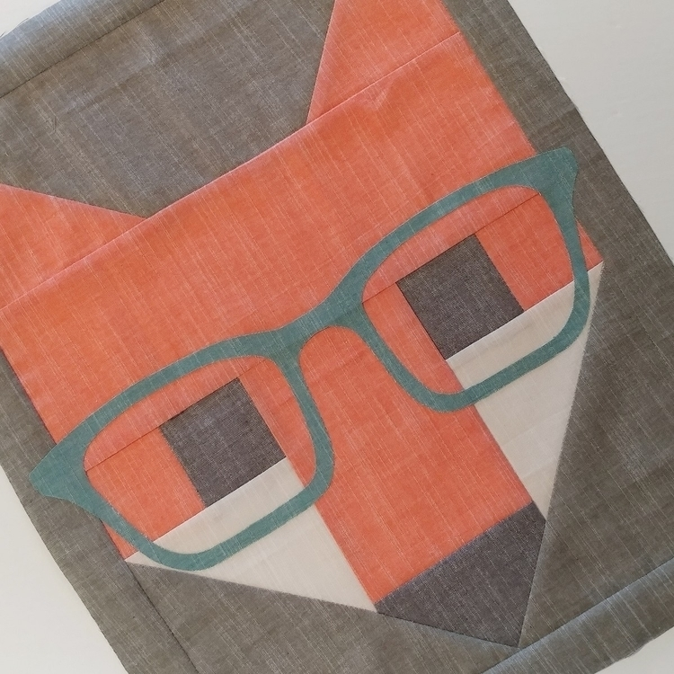 clever, Fox! Working Fancy Fox  - sliceofpiquilts | ello