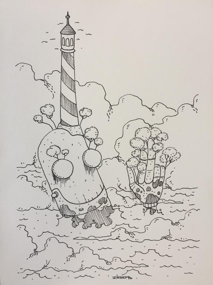 4 lost sea - novembots, robot, illustration - jimmy-draws | ello