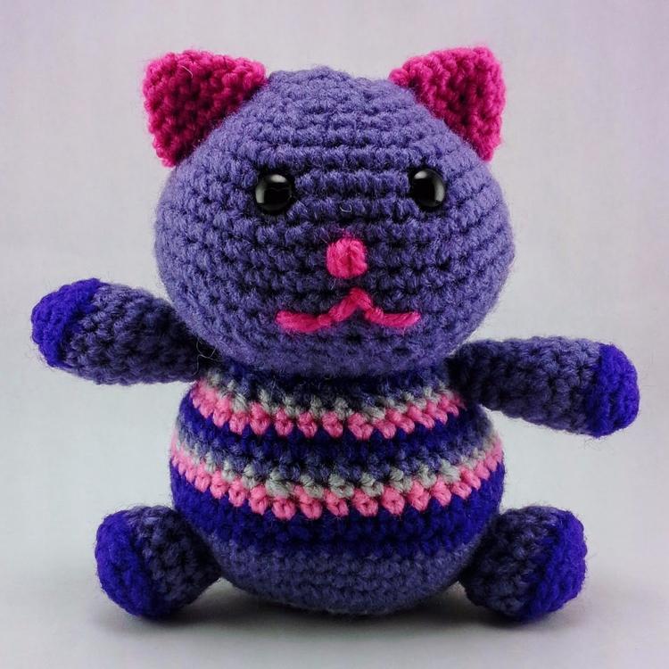 Happy Fat Kitty shock early Sea - miniaturemonkeycreations | ello