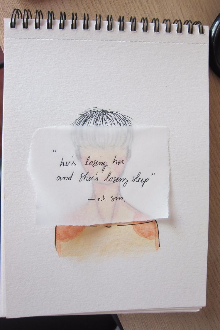 watercolour, quote - thoriwu | ello