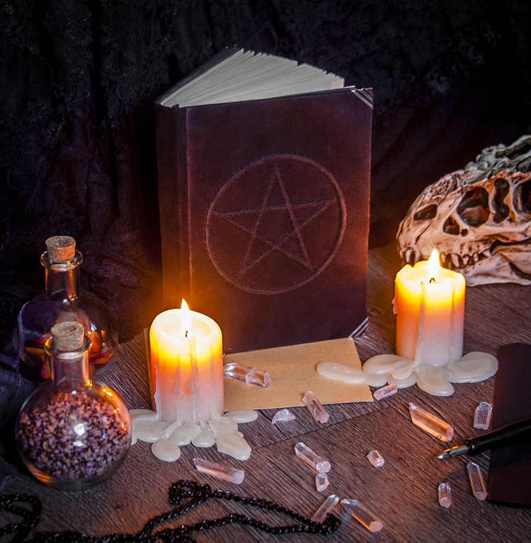 Happy Full Moon - pentagram, fullmoon - dustyburrow | ello