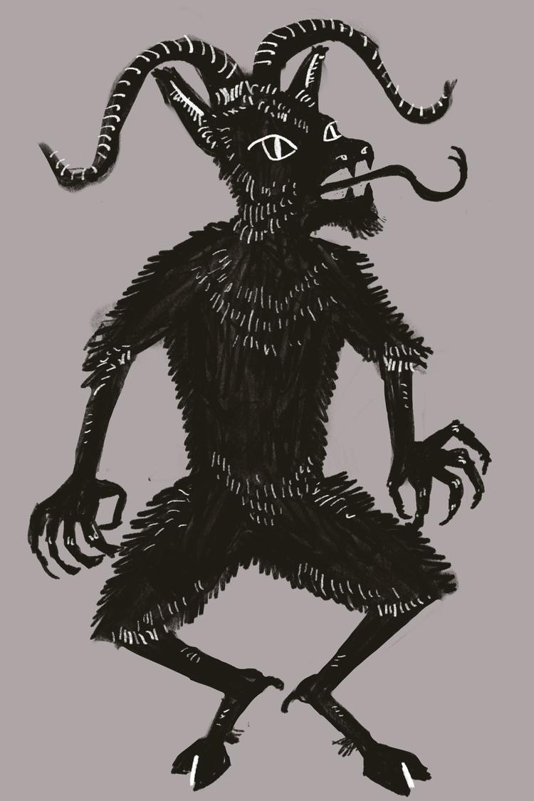 Krampus sketching - German, folklore - reneeleigh | ello