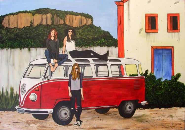 Van Life Acrylic canvas 2017 - diogorustoff | ello