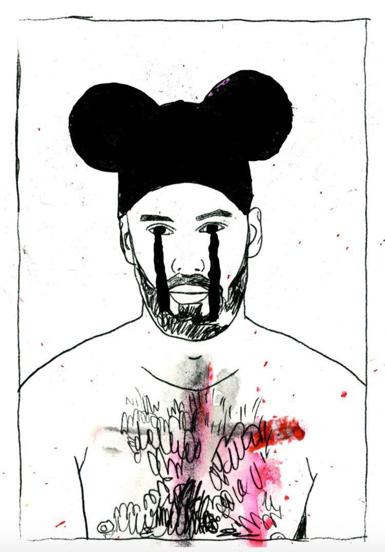 Tear Bear, ink gouache, 2015 - fineart - michaelgurhy | ello