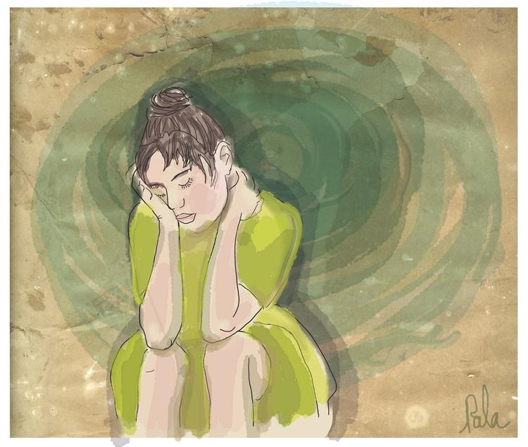 Digital artword, feelings - illustration - palahoyos | ello
