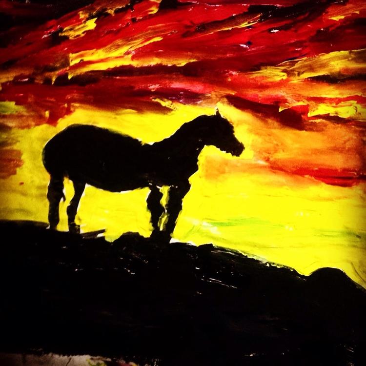 Horse Sunset Silhouette - loveartwonders | ello