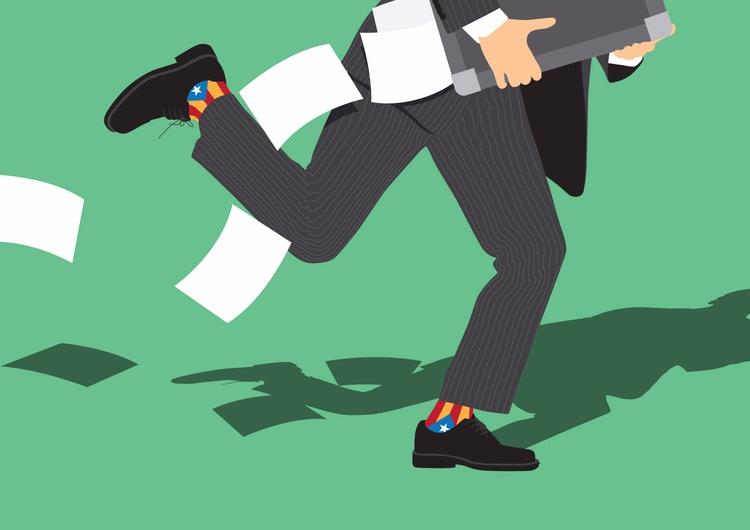 Puigdemont sneaks - illustration - federicogastaldi | ello