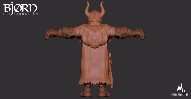 BJ0RN, BARBARIAN Digital sculpt - marcelo_d | ello