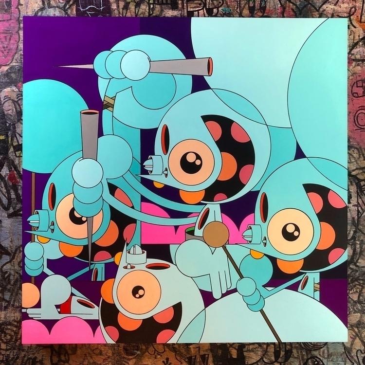 spacemonkey, painting - dalek | ello