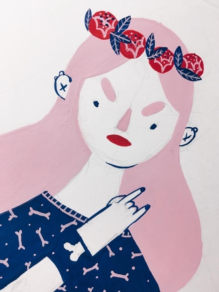 today - wip, illustration - rachelkatstaller | ello