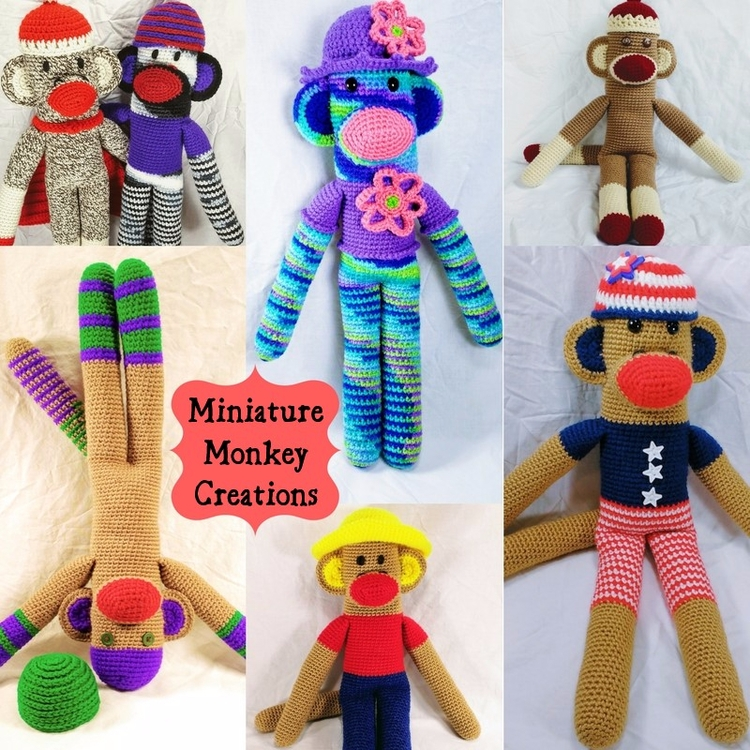 Happy great monkeys collecting  - miniaturemonkeycreations | ello