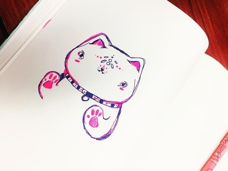 doodle, niji, ninju, cat - merr | ello