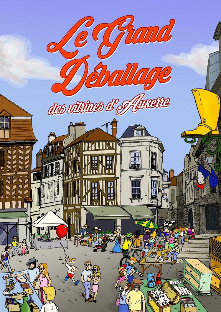 Affiche pour événement auxerroi - romgondy | ello