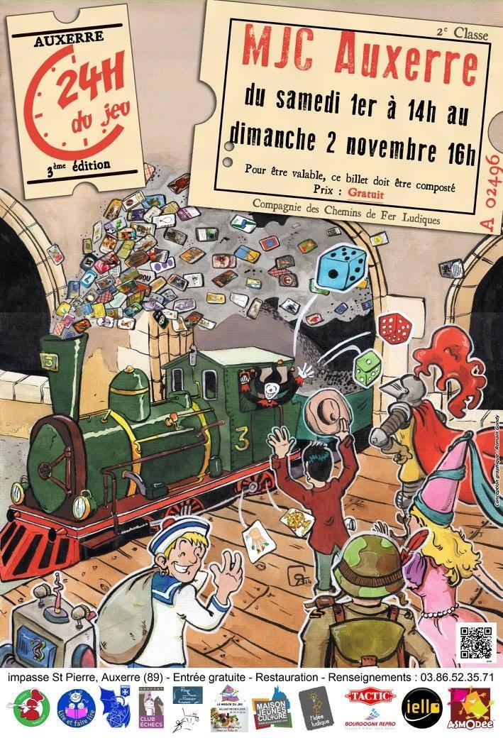 Affiche pour les 24h du jeu 201 - romgondy   ello