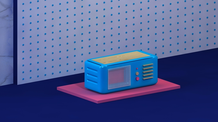 Retro radio. Cinema 4D  - cinema4d - ewelinagaska | ello