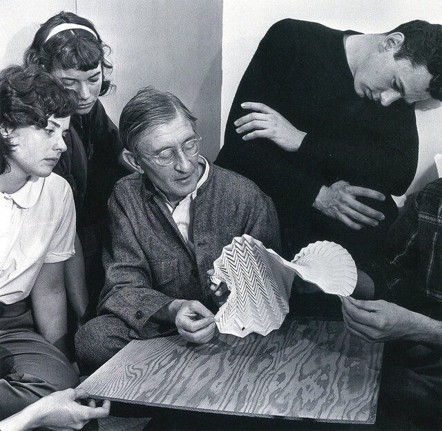 Josef examining folded construc - bauhaus-movement | ello