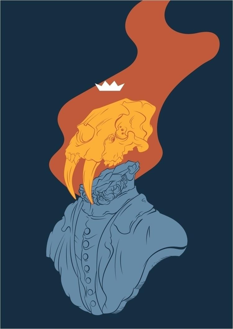 Ghost - illo, illustration, vector - mntzuma   ello