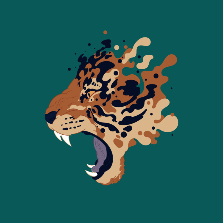 Tiger - illo, illustration, vector - mntzuma | ello