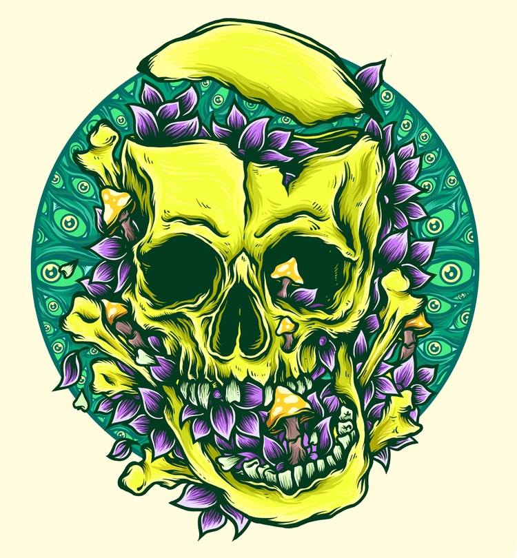LSD skull - robinclarijs | ello
