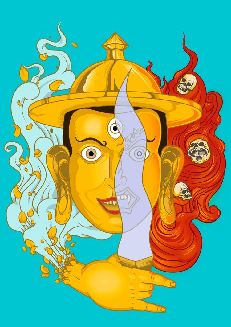 Inpired buddhist deity Dorge Sh - juliusllopis | ello