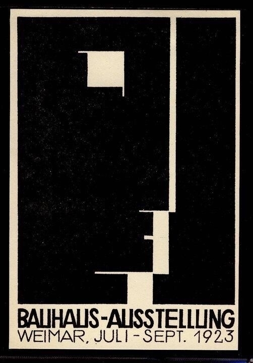 Ausstellung 1923 Weimer Logo Li - bauhaus-movement | ello