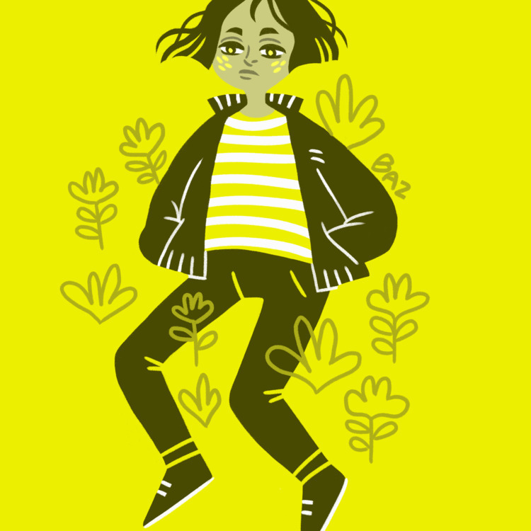 Huevember day 2 - digitalart, yellow - stbaz | ello