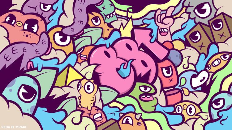 88 Rising wallpaper doodle illu - redaelmraki | ello