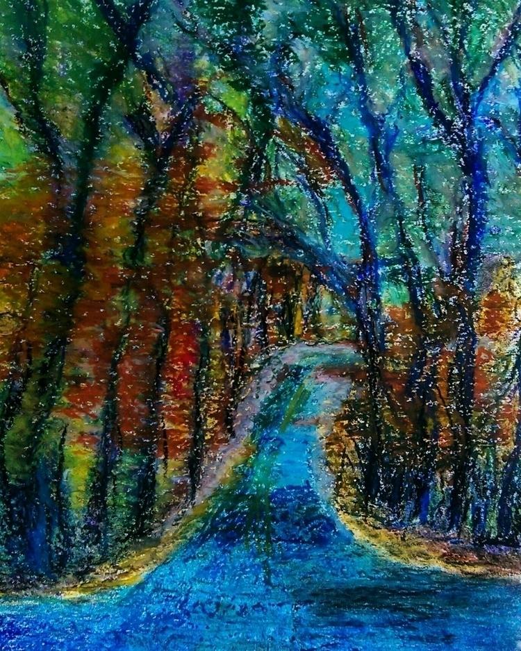 landscape oil pastel. daily pra - bnapi | ello
