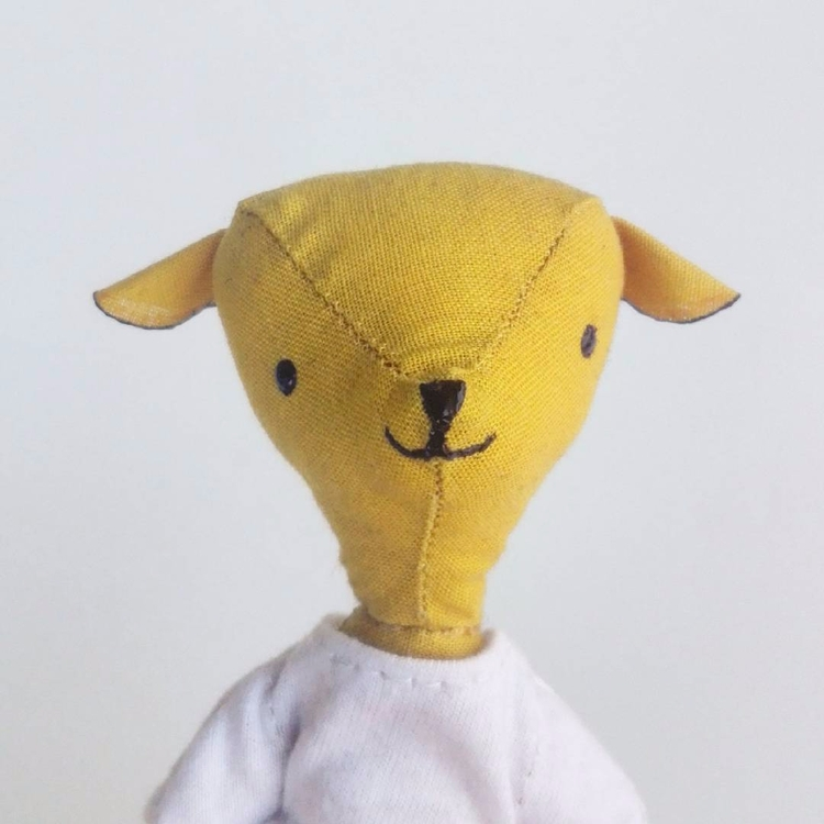yellow fellow - hand sewn love - ini_aka_ada | ello