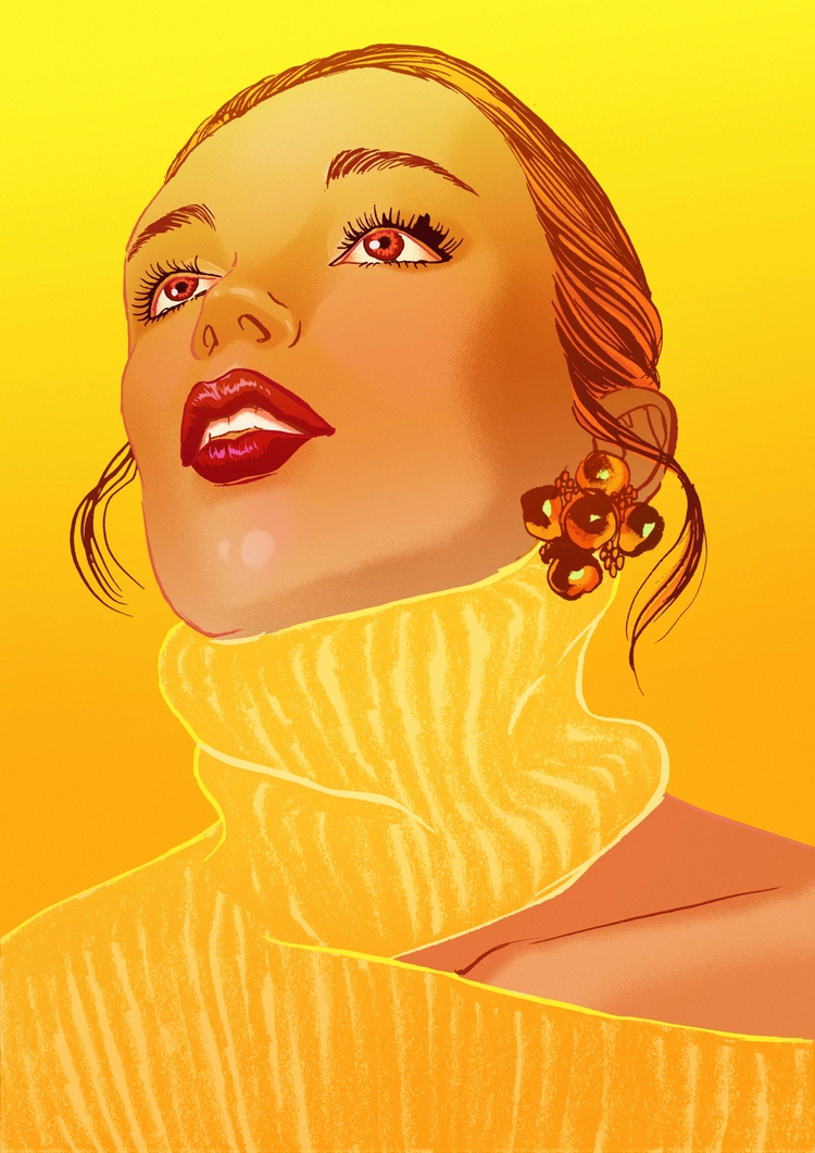 Golden girl - Fashionillustration - eunjeongyoo | ello