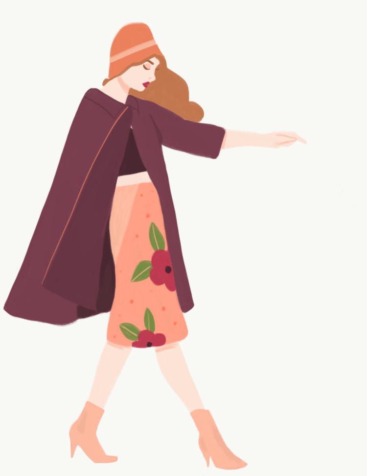 spring, fashion, fashionillustration - cariguevara | ello