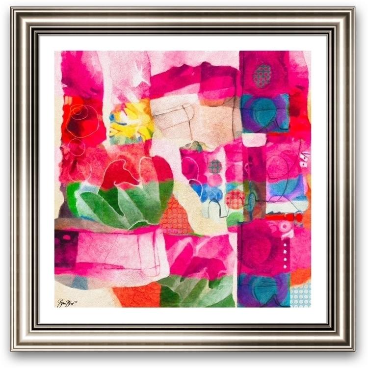 Garden Path - abstractart, mixedmedia - ginastartup | ello