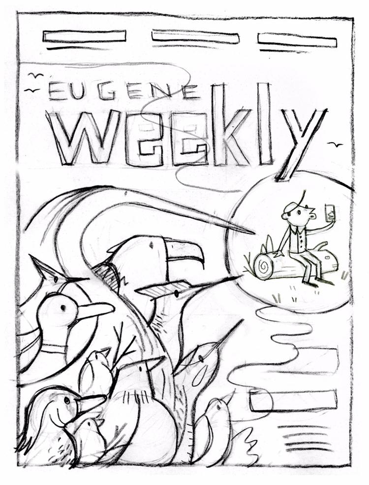 Alt-weekly cover sketch - arenvandenburgh | ello