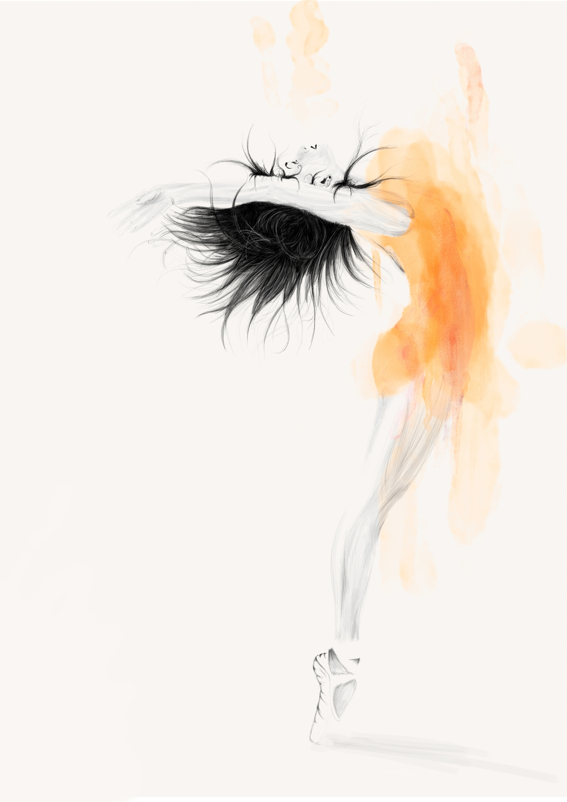 ballet - illustration, drawing, painting - odinantonsen   ello