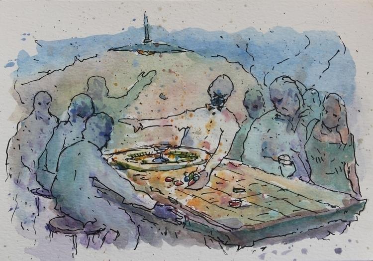 La rula Ink + Watercolor paper - agustinp | ello
