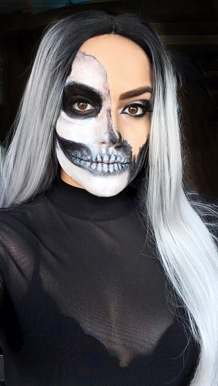 time crazy Halloween makeup yea - melinalovexo | ello