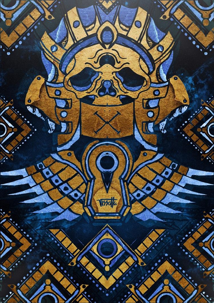 Sphynx - vector, skull, symbol, illustrator - vissotto | ello