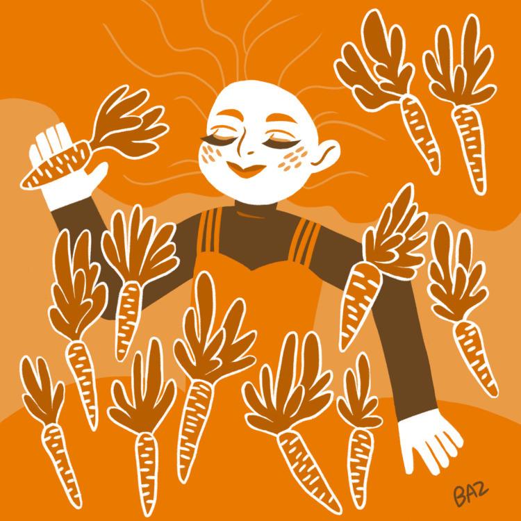 Huevember day 6 - orange, digitalart - stbaz | ello
