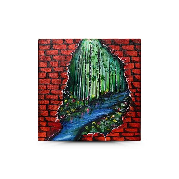 Brick 3D Painting - paintings, homedecor - yesnocp | ello