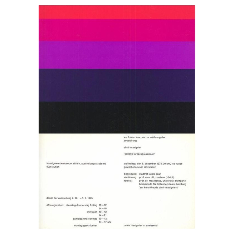 Almir Mavignier — Poster exhibi - strouzas   ello