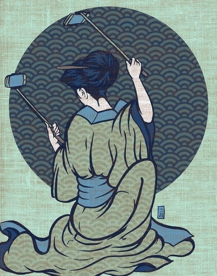 Eastern Selfie - illustration - thomcat23 | ello